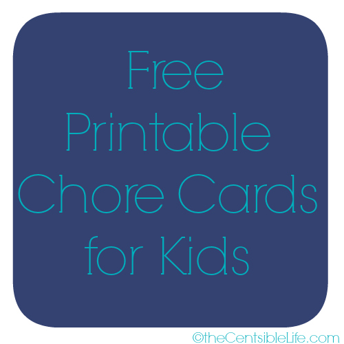 Free Chore Cards for Kids