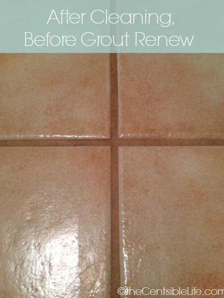 After cleaning, before Grout Renew