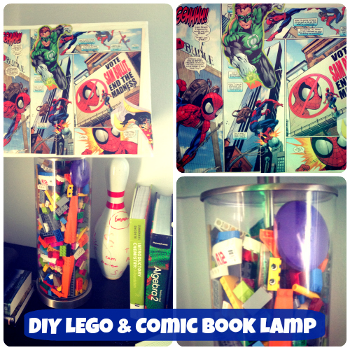 Lego and Comic Book Lamp