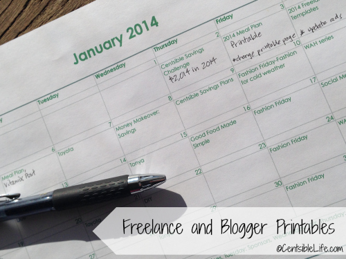 Printables for Bloggers