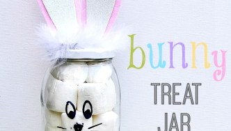 Easter Crafts: DIY Bunny Treat Jar