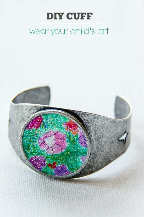 DIY Cuff: Wear your child's artwork
