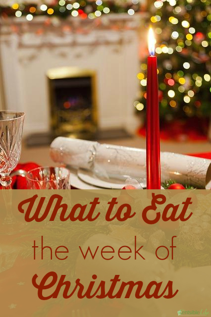 what to eat the week of christmas