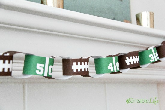 SuperBowl Game Day Paper Chain free printable