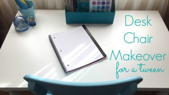 Desk Chair Makeover for a Tween Girl