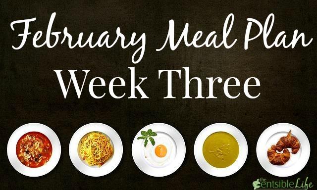 February Meal Plan Week Three