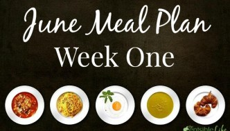 June Meal Plan Week 1