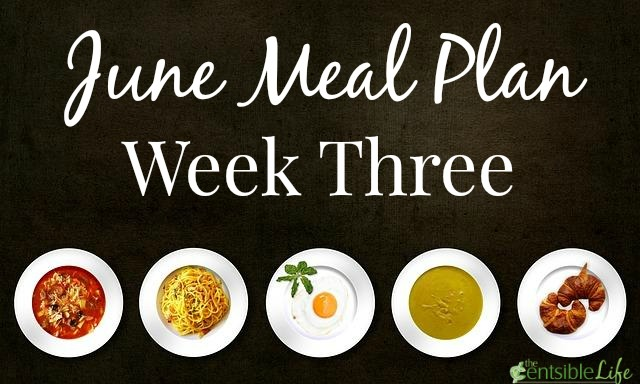 June Meal Plan week three