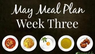 May Meal Plan: Week Three