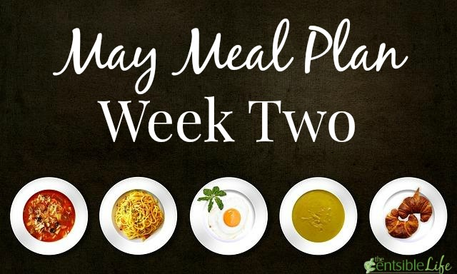 May Meal Plan week two