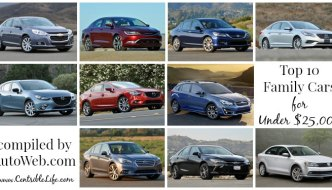Top 10 Family Cars Under $25,000