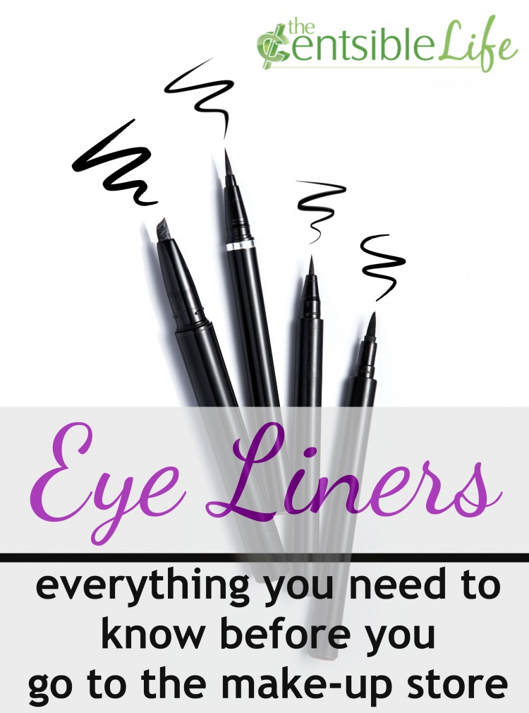 eyeliners - everything you need to know before you shop for make-up | TheCentsibleLife.com