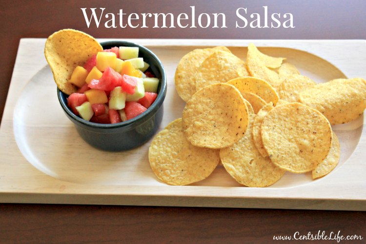 Watermelon Salsa with chips