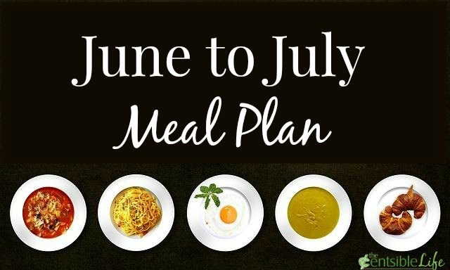 June to July Meal Plan