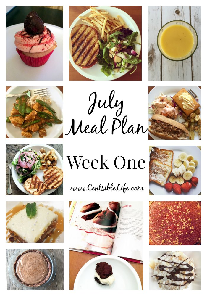 July Meal Plan Week One