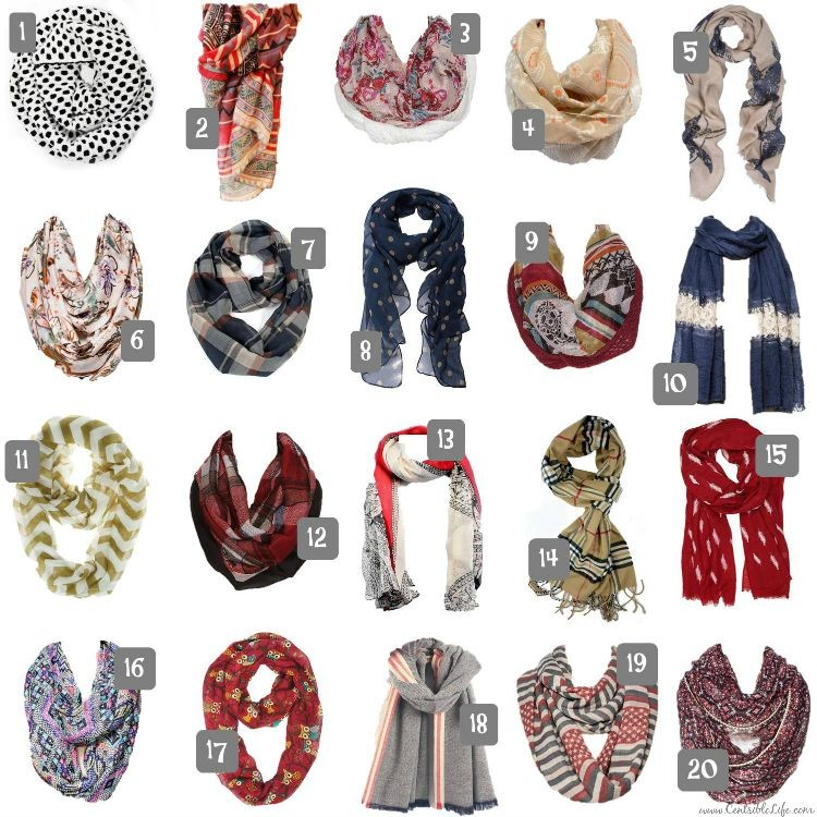 20 Fall Scarves Under $20