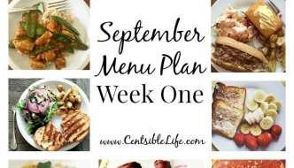 September Menu Plan: Week One