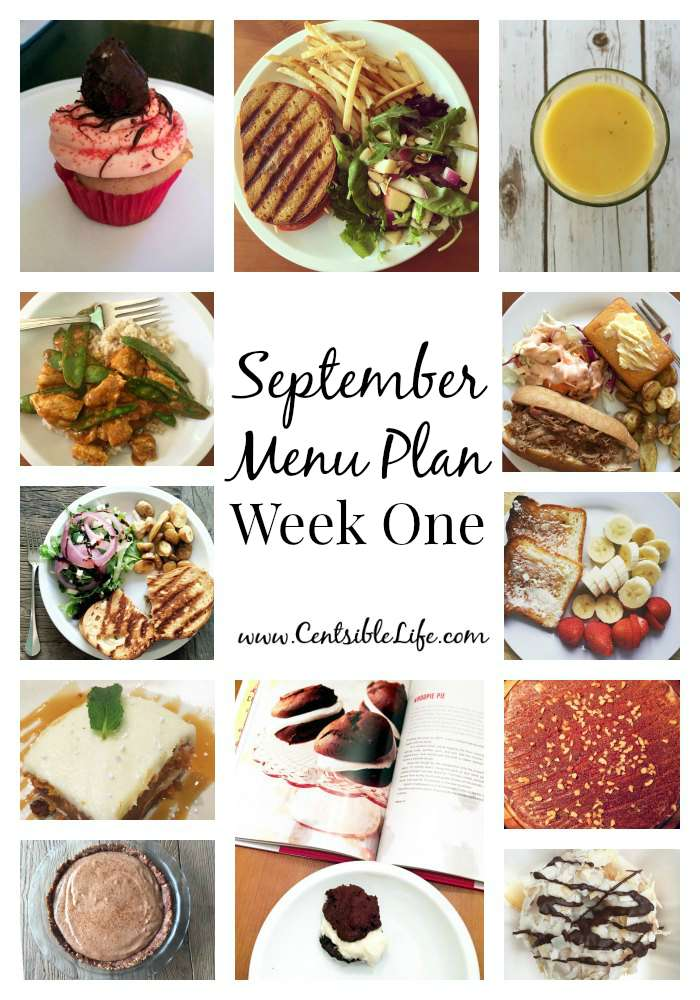 September Meal Plan Week One