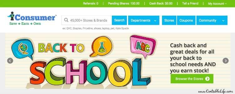 iConsumer homepage