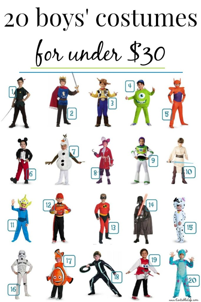 20 boys' costumes for under $30