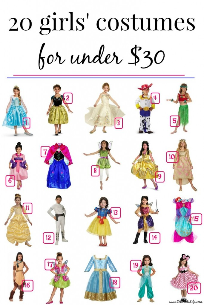 20 girls' costumes for under $30