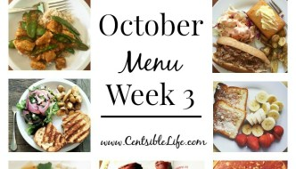 October Menu Plan: Week Three