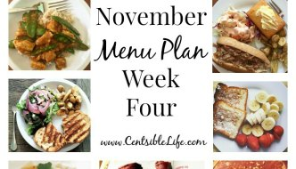 November Menu Plan: Week Four