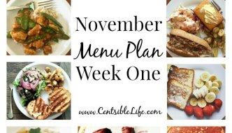 November Menu Plan: Week One