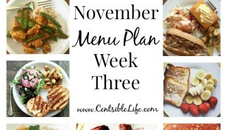 November Menu Plan: Week Three