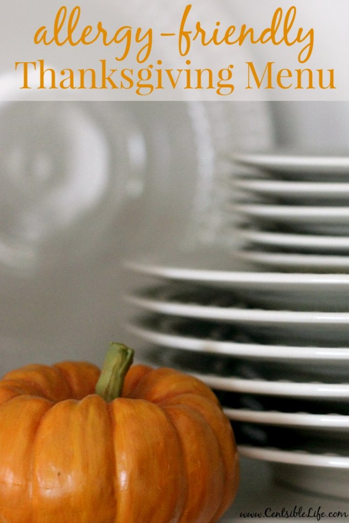 allergy-friendly Thanksgiving Menu