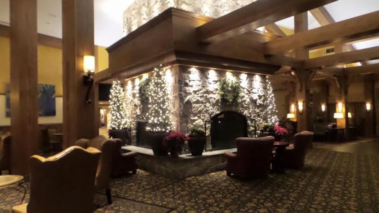 Herhsey Lodge Lobby fireplace