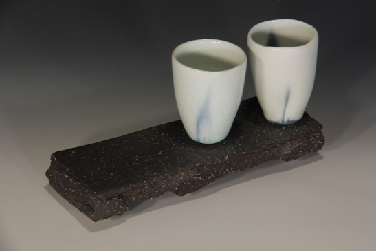 20. Sandy Lockwood - 'Stand and Two' - woodfired saltglazed porcelain and stoneware 2014 resized