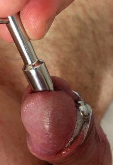 Girl deep inserted penis probe