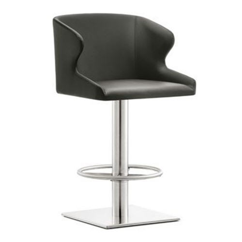 bar stool chair grey pembrook corp leila the factory model 4 687