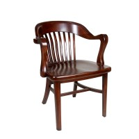 Brenn Antique Wood Arm Chair