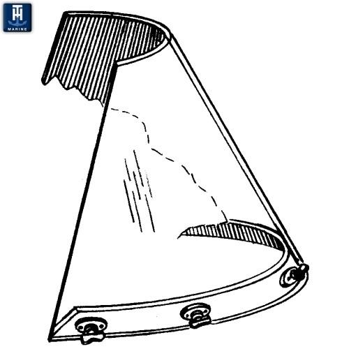 T-H MARINE #WSH-1PR-DP, BOAT WINDSHIELD FASTENER(pr). The