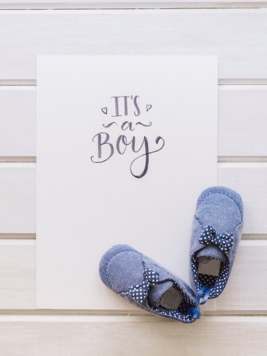 Buy A Pair Of Baby Shoes To Announce Baby News