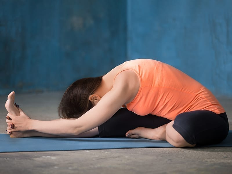 Half And Hamstring Stretching Exercise