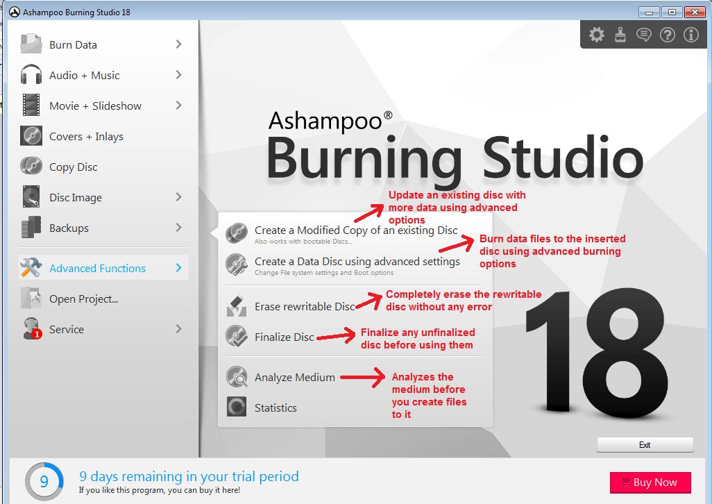 Ashampoo Burning Studio advanced