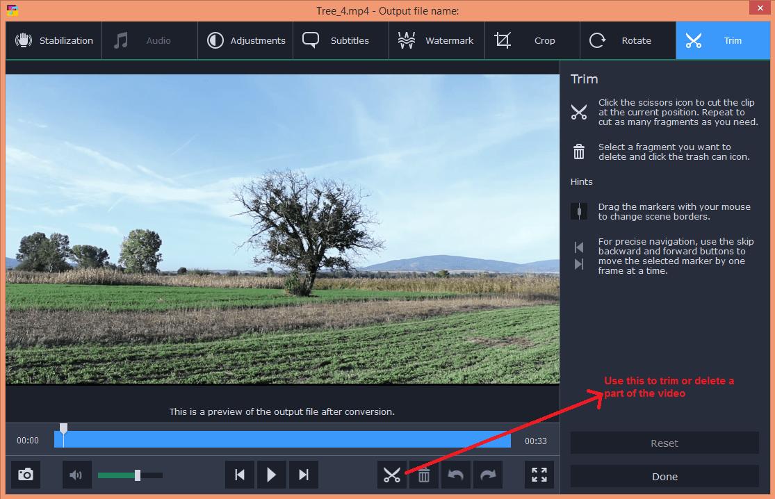 movavi video converter edit trim