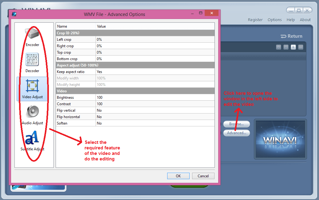 winavi all in one converter edit