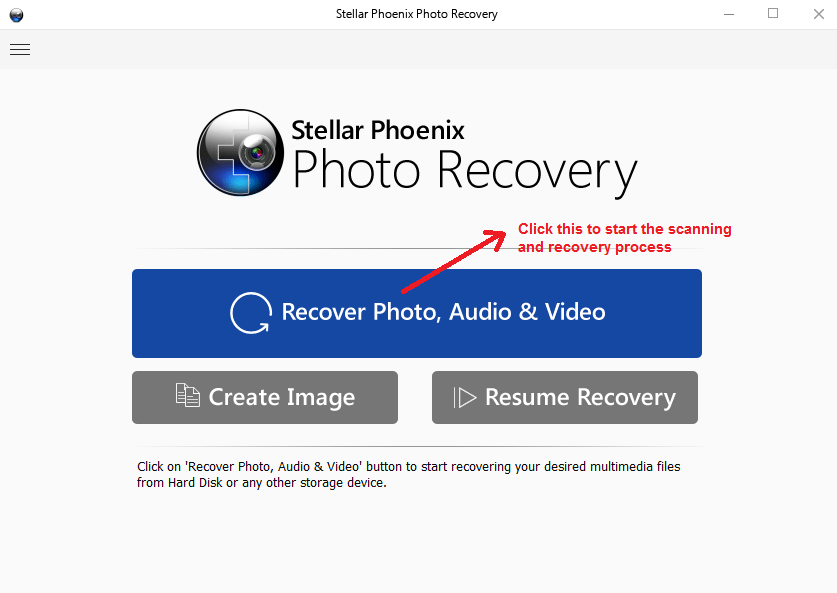 stellar photo recovery recovery