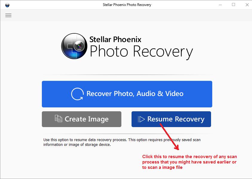 stellar photo recovery resumerecovery