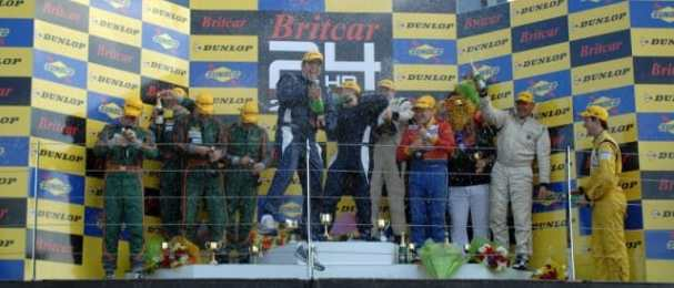 2011 Britcar 24 Hours overall podium (Photo Credit: Chris Gurton Photography)
