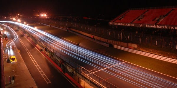 Brands Hatch by night (Photo Credit: Chris Gurton Photography)