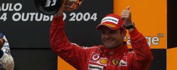 Barrichello secured pole at Interlagos in 2004, and went on to finish third behind Juan Pablo Montoya and Kimi Raikkonen - Photo Credit: Ferrari