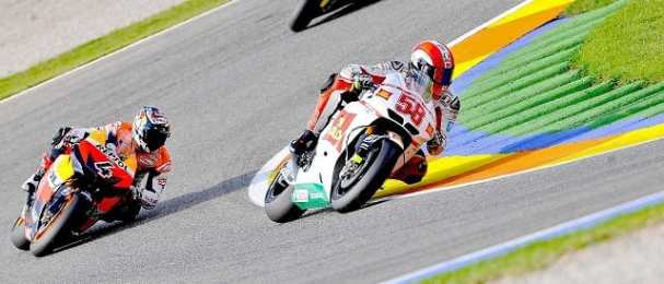 Marco Simoncelli during last year's Valencia GP - Photo Credit: MotoGP.com