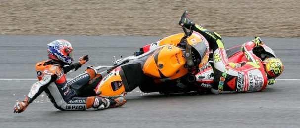 Casey Stoner & Valentino Rossi - Photo Credit: Juan Carlos Toro Del Rio - MotoGP.com
