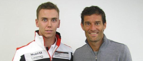 Daniel Lloyd and F1 driver Mark Webber