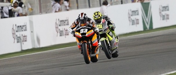 Marc Marquez claims victory in Qatar: Photo Credit: MotoGP.com